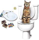 Ducomi Bobo - Training Kit per Addestramento Gatti - Addestra il Gatto ad Usare la Toilette - Alternativa alla Lettiera Gatti - WC Gatto - Sistema di addestramento all'uso del WC per Gatti (Training Kit + Extra Catnip)
