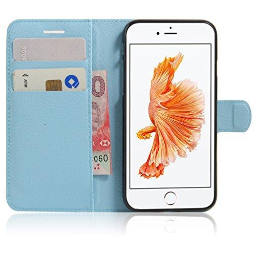 Coque iPhone 7,Manyip Téléphone Coque - PU Cuir rabat Wallet Housse [Porte-cartes] multi-Usage Case Coque pour iPhone 7,Classique Mode affaires Style D