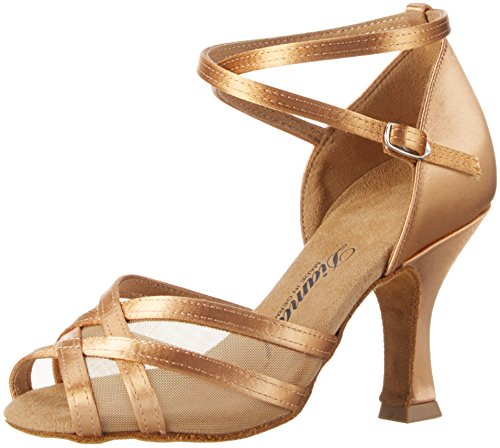 Diamant Damen Tanzschuhe 035-108-087 Standard & Latein, Beige (Bronze), 38 EU (5 UK)