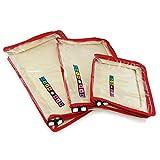 Hangerworld - Set da 3 organizer per valigia e cassetti - con zip rossa