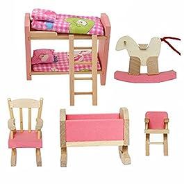 Cisixin Mobili Dollhouse Di Adorabile Legno dei Bambini Set Toy
