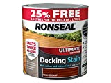 Ronseal RSLUDSRM2LAV Ultimate Deck Stain Rich, Mahogany, 2.5 Litre