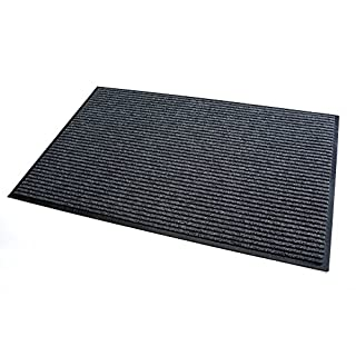 High Quality Rug & Shoe Scraper ✓ Extremely Durable ✓ Exterior and Interior ✓ Washable ✓ PVC Free - Entrance Mat, Welcome Mat - Exterior dust mat, Dirt trapping mat (MULTI 60x90 cm, gray)