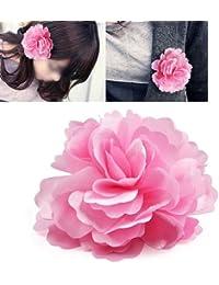 Generic - Chicas mujeres satin peony pelo broche de la flor del clip - rosa