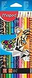 Maped 811310Couleur Peps Animal crayon de couleur (lot de 12)