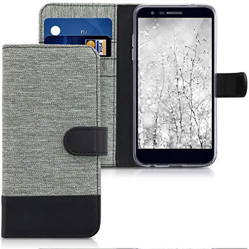 kwmobile LG K11 / K11+ / K10 (2018) Hülle - Kunstleder Wallet Case für LG K11 / K11+ / K10 (2018) mit Kartenfächern & Stand