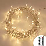 8 Modes 40 LED Fairy Lights Battery Operated [Remote & Timer] Outdoor LED String Lights IP65, Warm White [Energy Class A+++]