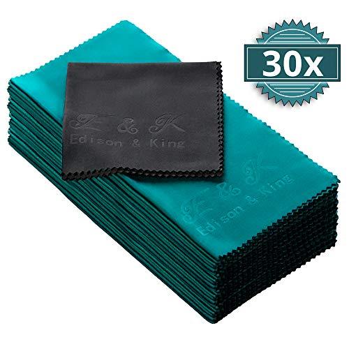 Mikrofasertücher im Vorteils-Pack - Multi-Pack extra weiche Brillenputztücher - 20 x 20 cm - waschbar (30er-Pack)