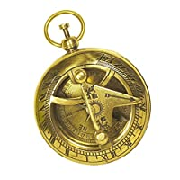 SouvNear Sundial Compass Brass Nautical Device - Maritime Golden-Tone Vintage Look Replica Collectible - Great Corporate & Personal Gifts