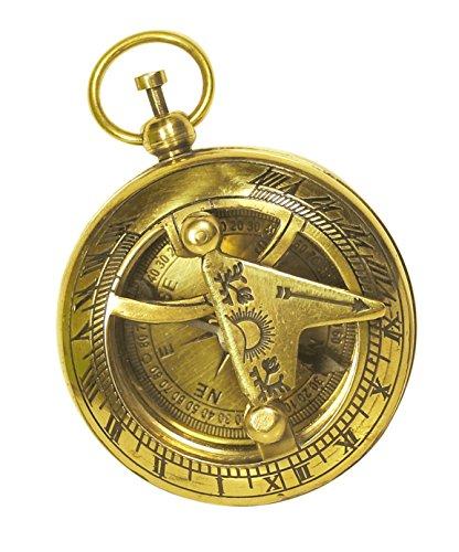 souvnear Sonnenuhr Kompass Messing Nautischen Gerät–Maritime golden-tone Vintage Look Replica Collectible–Tolles Corporate & Persönliche Geschenke (Automobil-digital-kompass)