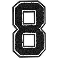 Urban Classics UC Numbers, 8, Patch zum aufbügeln auf Textilien, black