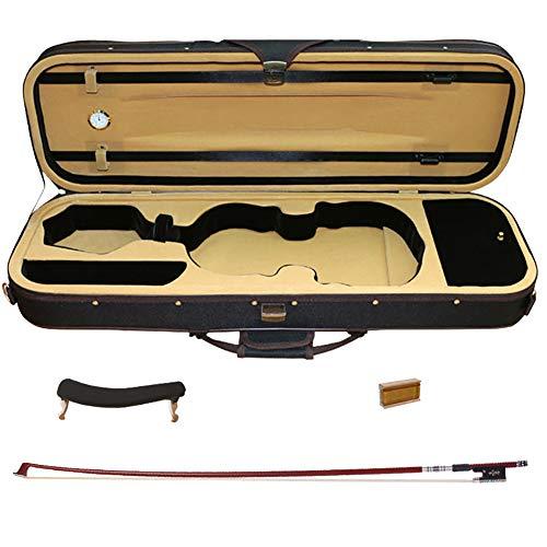 BLKykll Custodia per Violino,Custodia Integrale per Violino 4/4,Dotato di Fiocco in Legno di Sandalo Intagliato, Resina in Legno Massello, Poggiaspalla