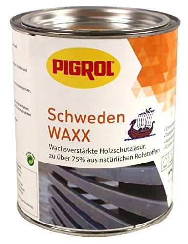 Pigrol Schweden Waxx 0,75L silbergrau Holzschutzlasur für den Innen- und Außenbereich