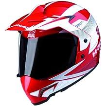 Marushin X-Moto II Futatsu Casco Integral para Motoristas, Rojo, M