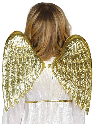Childrens Boys Girls Gold Wings Angel Nativity Christmas Festive Xmas Fancy Dress Costume Outfit Accessory