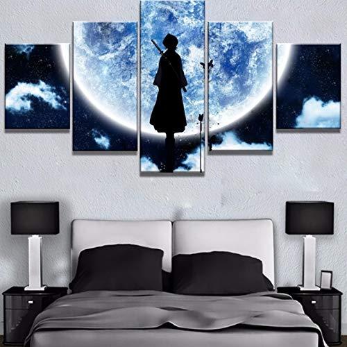 Wiwhy Modulare Bild Hd Drucke Malerei 5 Stücke Bleach Anime Dekoration Cartoon Wandkunst Für Wohnzimmer Kunstwerk Poster-10X15/20/25Cm