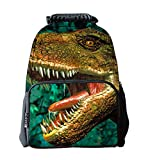 EssVita Niño Niña mochila casual 3D Animales Imprimir morral de la escuela bolsas para portátiles Mochila Senderismo (Dinosaurio)