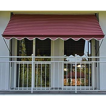 Markisen, Terrassenüberdachung Klemm-markise Mit Manuellem Kettenantrieb Dralon 2200