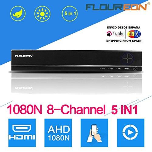 Iptv-dvr (Video Recorder Dvr CCTV Sicherheit FLOUREON 5 in 1 TVI 8CH P2P 1080 N HDMI)