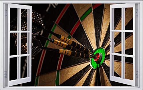 Fotografie Dart Scheibe Pfeile Bullseye Wandtattoo Wandsticker Wandaufkleber F1916 Größe 120 cm x 180 cm