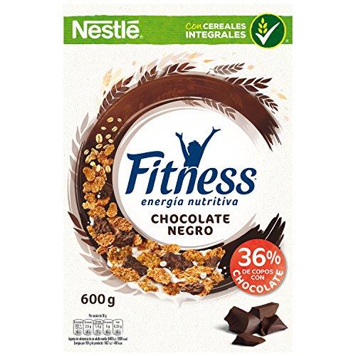 Cereales Nestlé Fitness con chocolate negro - Copos de trigo integral