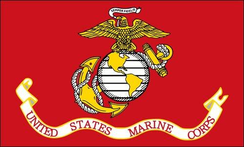 United States Marine Corps Flagge Aufkleber (USMC SEMPER FI)