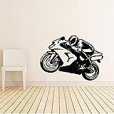Atiehua Wandtattoos Motorrad Bike Wandaufkleber Sport Wandtattoos Wohnkultur Kinder Kinderzimmer Jungen Zimmer Dekoration Tapeten Wandbilder