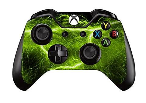 Stillshine Vinyl Wrap skin sticker for Microsoft Xbox One Controller Gamepad x 2 (Green Electric)