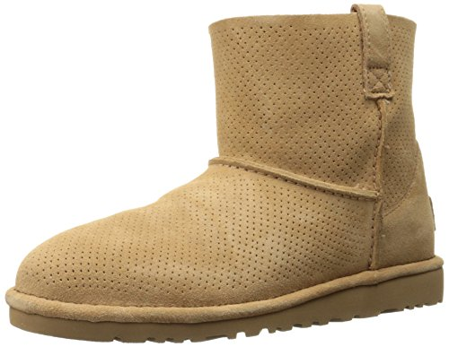 UGG® Classic Unlined Mini Perf Damen Stiefel Beige (Ugg Lammfell Care Kit)