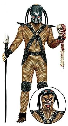 Space Hunter Herren-Kostüm Gr. M/L Alien Invasion Monster Jäger Weltraum-Krieger (Alien Invasion Der Erde)