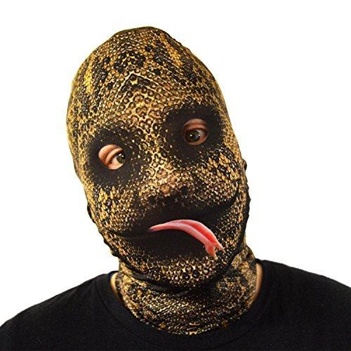 gruselig Halloween Gesichtsmaske glatt Schlange Zunge Kostüm Horror Lycra