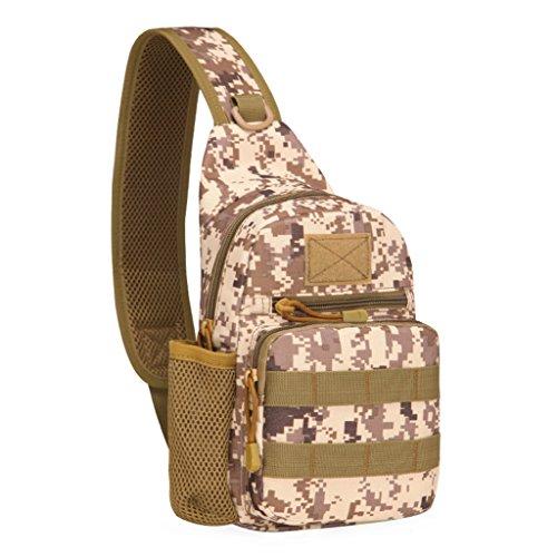 Fueerton Men Portable Outdoor escursionismo sport petto borsa Tracolla in tela, borsa a tracolla, G C