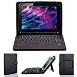 NAUC Bluetooth Tastatur Tasche f Medion Lifetab S10321 Tablet Keyboard Hülle Bag