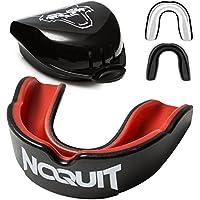 NOQUIT Zahnschutz mit hygienischer Aufbewahrungsbox - anpassbarer Mundschutz für Erwachsene - perfekt für Boxen, MMA, Muay Thai, American Football & Hockey inkl. Anleitung