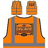Espresso Starker Braten Personalisierte High Visibility Orange Sicherheitsjacke Weste r110vo