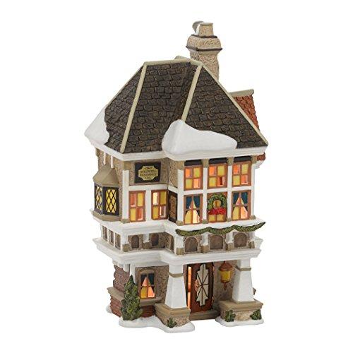 département 56 Dickens Village Neveu Fred de Bâtiment en Porcelaine Lumineux Home # 4036525
