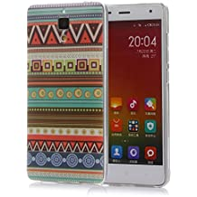 tinxi® Funda de silicona para Xiaomi MI4 Mi4 M4 5,0 pulgadas la cubierta protectora Raya verde estilo indio