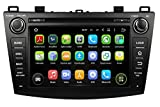 8 Zoll Doppel Din Android 5.1.1 Lollipop OS Autoradio für Mazda 3 2010 2011 2012 2013, kapazitiver Touchscreen mit Quad Core 1.6G Cortex A9 CPU 16G Flash und 1G DDR3 RAM GPS Navi Radio DVD Player