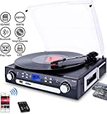 DIGITNOW! Bluetooth Record Player with...