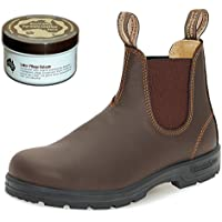 Blundstone Style 550 Classic Comfort Chelsea Boots Unisex Stiefelette + 250 ml Lederpflege   Walnut Brown