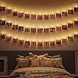 Lichterkette,100Leds Lichterkette warmweiß Globe Lichterkette Wasserdicht Deko Glühbirne Weinachtsbeleuchtung für Valentinstag Party Garten Hochzeit Ferien Haus in Innen oder Außen