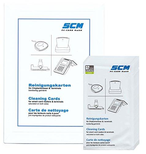 SCR Card Cleaning Kit 10er Pack - Reinigungskarten für Kartenleser / auch Chipdrive - Pc-cleaning-kit