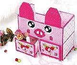 Doudou Caja De Pañuelos DIY Volume Tissue Boxes Caja De Almacenamiento Multifunción Punto De Cruz 3D 22X12X15Cm B