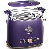 Bestting 2 Slice Retro Toaster • 2 Slots • Toast Rack • 680 W • Abtauung • Auftauen und Aufwärmen • Edelstahl • Abnehmbarer Krümelbehälter • Lila high quality