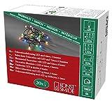 Konstsmide 1491-507 LED Globelichterkette mit runden Dioden/für Innen (IP20) / VDE geprüft/Batteriebetrieben: 3xAA 1.5V (exkl.) / 6h Timer / 20 bunte Dioden/schwarzes Kabel
