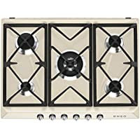 Smeg SR975PGH Integrado Encimera de gas Crema de color hobs - Placa (Integrado, Encimera de gas, Crema de color, hierro fundido, 1050 W, 1650 W)