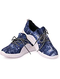 Mykon Blue Lace-up Casual Shoes For Mens