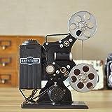 VanMe Décorations Créatives Ameublement Fer Rétro Vieux Projecteur Modèle Photographie Accessoires De Cinéma Bar Cadeau D'Ornements