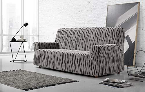Zebra Textil 42697 sofahusse elastisch Andromeda, 3 sitzer, grau Grau Zebra