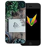 dessana Frühling transparente Silikon TPU Schutzhülle 0,7mm dünne Handy Soft Case für Apple iPhone 5/5S/SE Schmetterling Garten